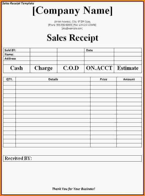 9 how to make a receipt letter template word