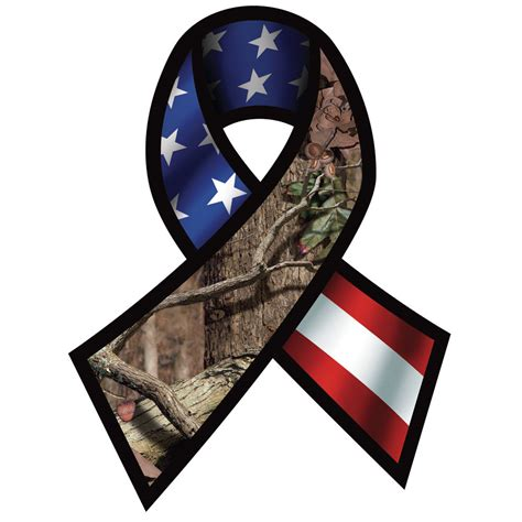 camouflage ribbon mossy oak up camo support our troops ribbon decal ebay