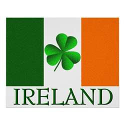 ireland flag colors ireland shamrock flag colors poster posters zazzle