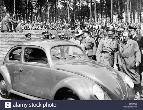 ferdinand porsche adolf and ferdinand porsche 1938 stock photo