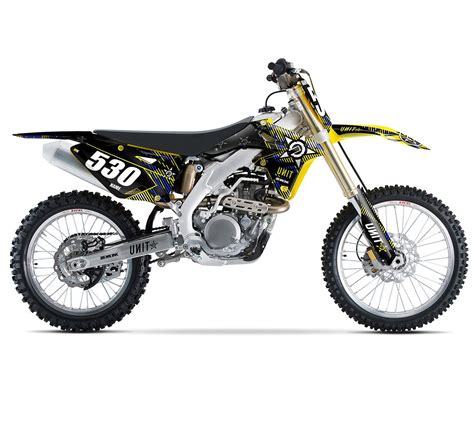 Suzuki Sticker Kit Suzuki Unit Graphics Semi Custom Motocross
