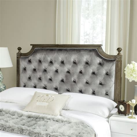 wood tufted headboard rustic wood grey tufted velvet headboard headboards