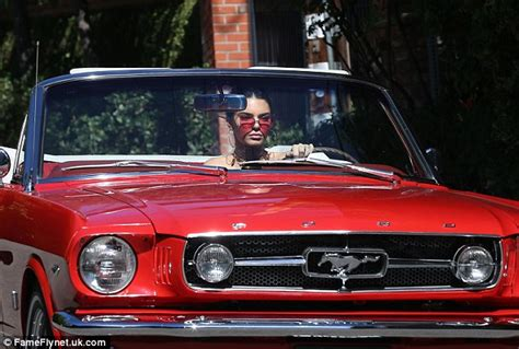 Ford Kendall Kendall Jenner Cruises Around La In Classic Car As