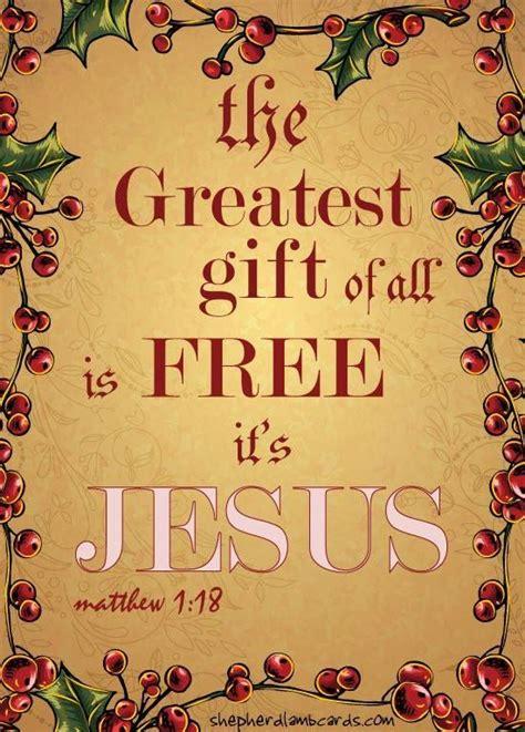jesus the greatest gift faith christmas pinterest