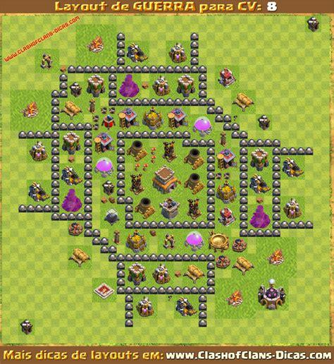 layout de cv 8 para guerra layouts para cv8 em guerra clash of clans dicas gemas