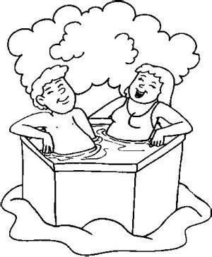Paar Badewanne by Paar Im Whirlpool Ausmalbild Malvorlage In Der Badewanne