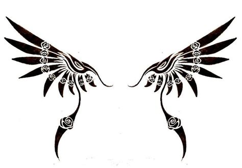 tribal wing tattoo designs wings tribal search tattoos