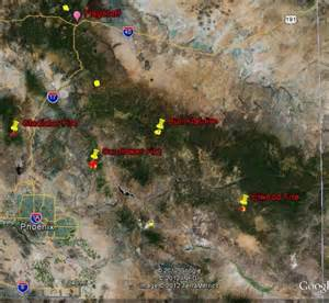 map of fires in arizona 2200 5 13 2012 wildfire today