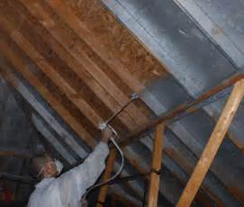 Radiant barrier spray oklahoma roofing by camelot roofing and