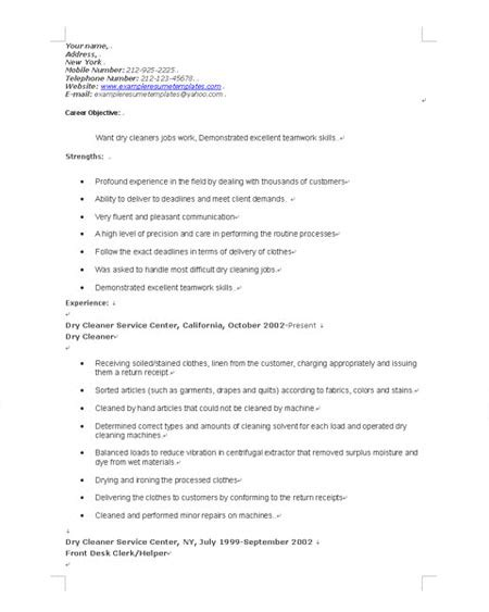 resume objective exles for janitorial augustais