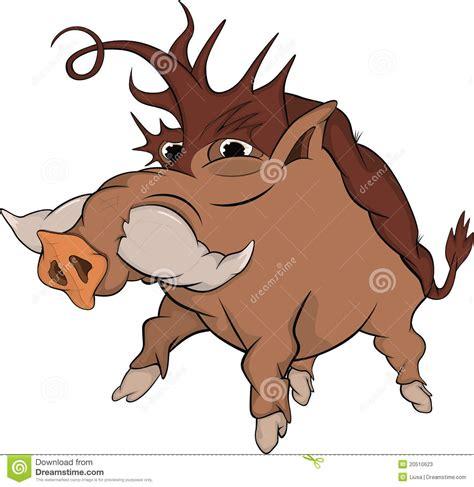 Armchair Travel Wild Boar Cartoon Stock Photos Image 20510623