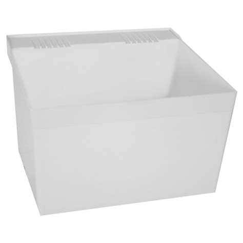 fiat tubs l1 molded laundry tub with hanger laundry sink