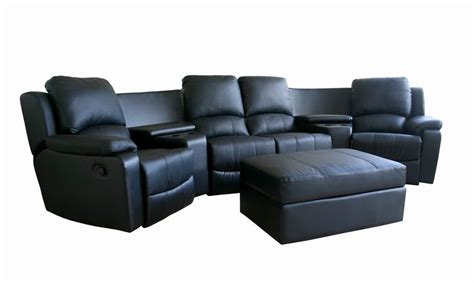 movies recliner seats lounge suites home theater genuine leather 4 seat home