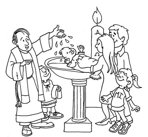 baptismal font coloring page coloring coloring pages