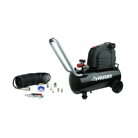 husky 8 gal portable free electric air compressor