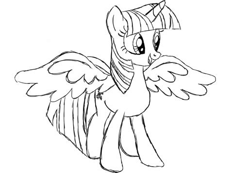alicorn twilight sketch up by exoticlithe on deviantart