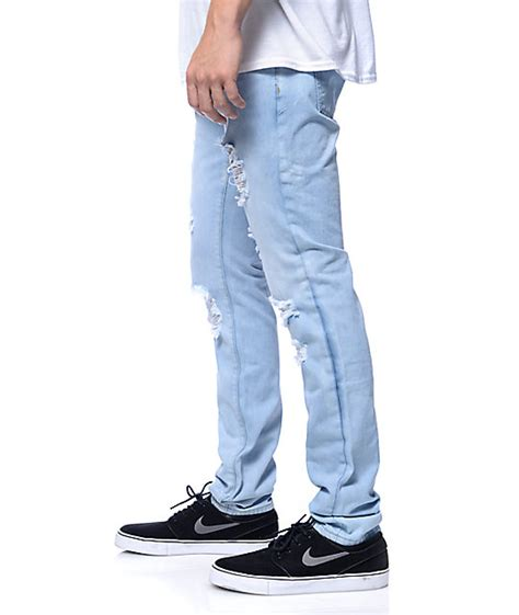 jones light crysp jones light blue fade slim fit zumiez