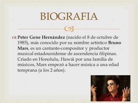 biography bruno mars ingles español mi singer favorite