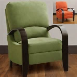 green or orange reclining chairs recliners recliner