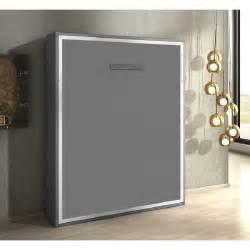 armoire lit escamotable gris mat 160x200 achat