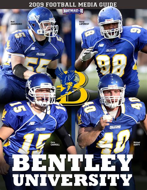bentley college football 2009 bentley university football media guide by lipe