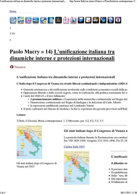 dispense storia contemporanea unificazione italiana dispense
