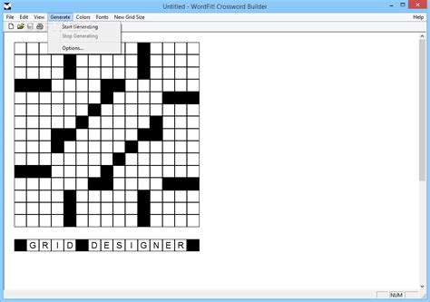 wordfit crossword builder