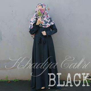 gamis ayudia khadija caltri black gamis chic