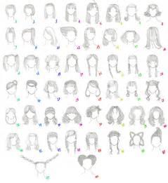 names of anime inspired hair styles 50 female anime hairstyles by anaiskalinin on deviantart