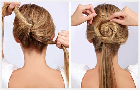 Ls5046 Rope Ribbon Side Cut Top twisted bun tutorial learn the 7 simple steps