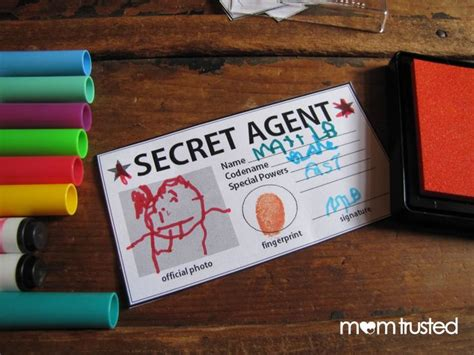 secret id card template secret id card free printable preschool
