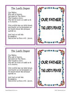 our father prayer learning card set that resource site