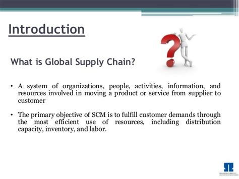 Mba In Global Supply Chain Management by Supply Chain Management Transportation Mba Project