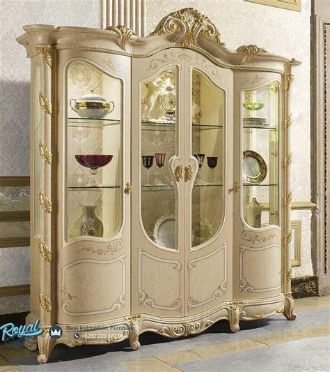 Almari Hias Jati Furniture Almari Lemari Hias lemari hias mahkota ukiran mewah terbaru madame royal royal furniture indonesia