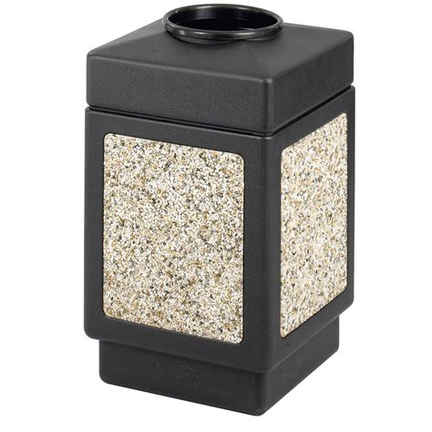 Backyard Garbage Cans by Safco Canmeleon Durable Outdoor Trash Cans Abc Office