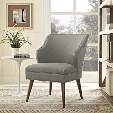 swell modern fabric upholstered armchair with dowel wood