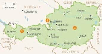 Map of austria austria regions rough guides rough guides