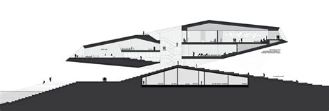 porsche museum plan delugan meissl v a at dundee shortlisted design