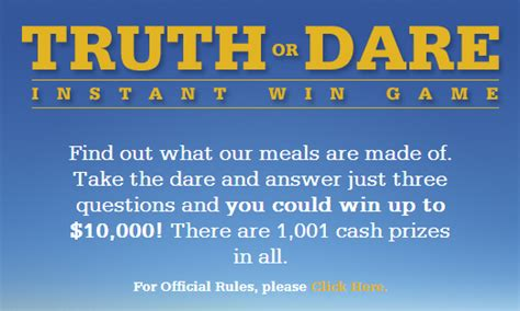 Instant Win Text Games - saving 4 a sunny day truth or dare instant win game