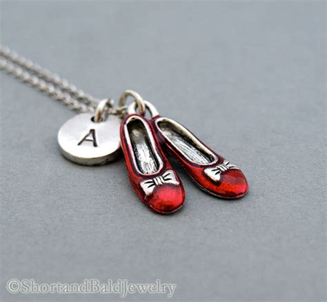 ruby slippers necklace ruby slippers necklace wizard of oz charm necklace