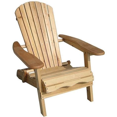 Patio Furniture Chair by Foldable Adirondack Natural Finish Patio Chair Kit