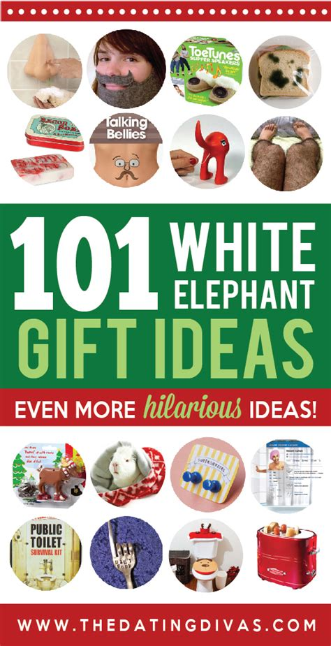 101 white elephant gift ideas the dating divas