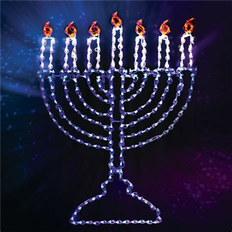 60 quot lighted led menorah candle holidynamics holiday