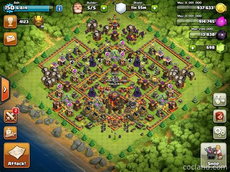 coc village layout th10 image gallery th 11