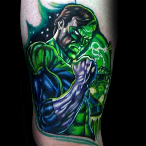 green lantern tattoos 40 green lantern designs for ideas