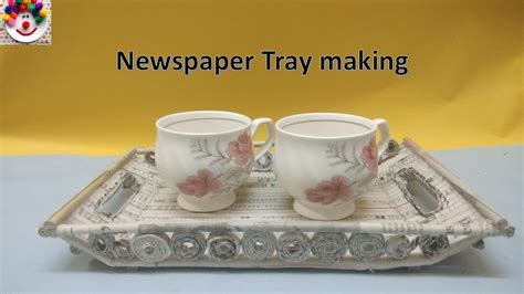 How To Make A Tray Out Of Paper - best out of waste ideas how to make tray with news paper