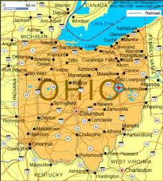 Ohio Lakes Map by The Ohio Economy Weakonomics