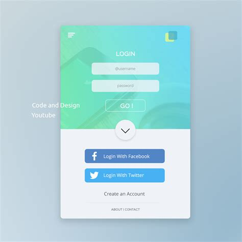 mobile photoshop ui design tutorial in photoshop mobile app login page