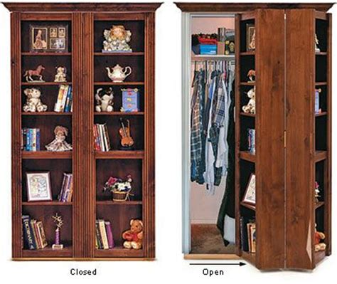 Murphy Closet Doors by Awesome Murphy Door Bookcase That Hides Closet Laundry