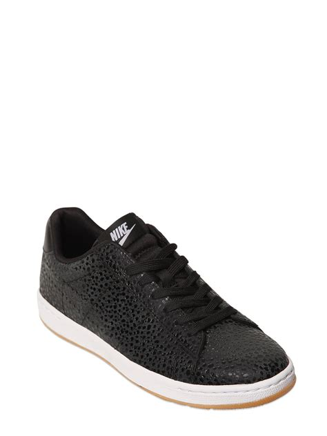 black leather sneakers mens lyst nike tennis classic ultra leather sneakers in black
